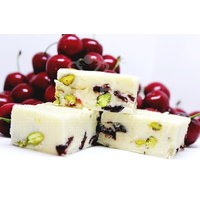 White Chocolate Pistachio & Cranberry 150g Fudge