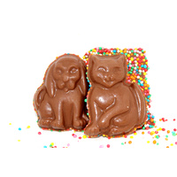 9 Cats & Dogs Milk Chocolate with Sprinkles